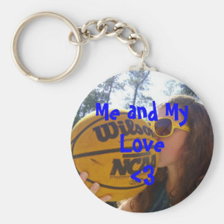 Me and My Love<3 Basic Round Button Key Ring