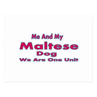 Me And My Maltese Dog Postcard