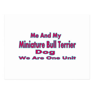 Me And My Miniature Bull Terrier Dog Postcards