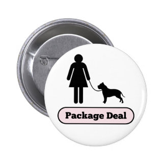 Me and My Pitbull Package Deal 6 Cm Round Badge