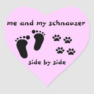 Me and My Schnauzer Heart Sticker