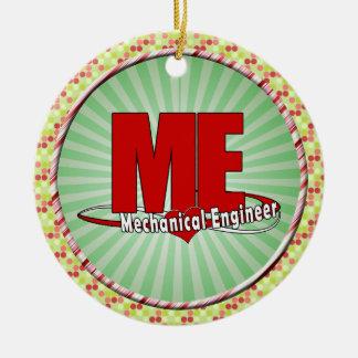 ME BIG RED LOGO MECHANICAL ENGINEER CHRISTMAS ORNAMENT