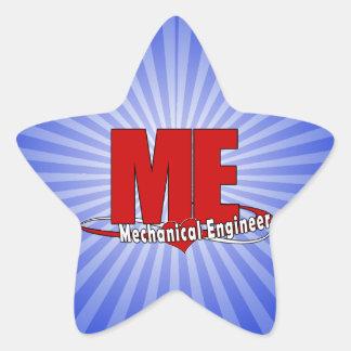 ME BIG RED LOGO MECHANICAL ENGINEER STAR STICKER