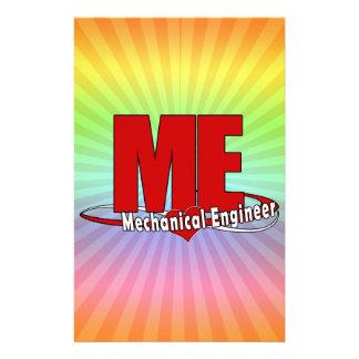 ME BIG RED LOGO MECHANICAL ENGINEER STATIONERY DESIGN