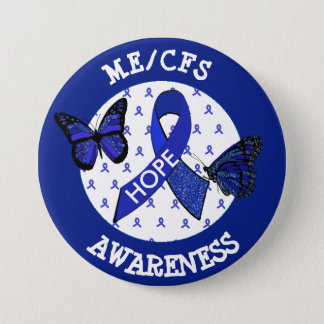 ME/CFS Syndrome Awareness Ribbon Button