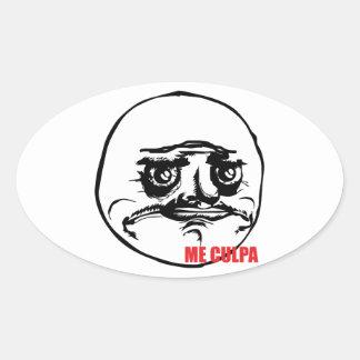 Me Culpa - Oval Stickers