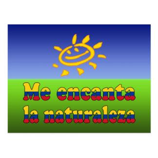 Me Encanta la Naturaleza - I Love Nature Colombian Postcard