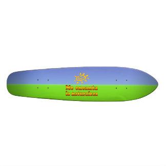 Me encanta la naturaleza I Love Nature in Spanish Skate Board Decks