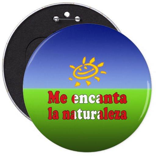 Me Encanta la Naturaleza - I Love Nature Peruvian Pinback Button