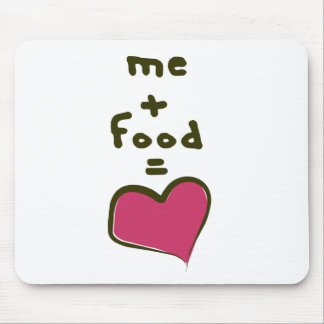 Me + Food = Love Mouse Mat