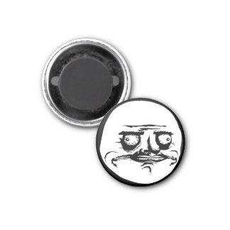 Me Gusta Face Meme 3 Cm Round Magnet