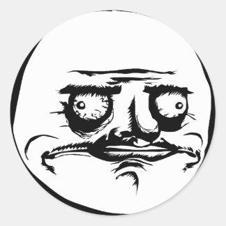 Me Gusta Face Meme Round Sticker