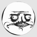 Me Gusta Face Meme Round Stickers