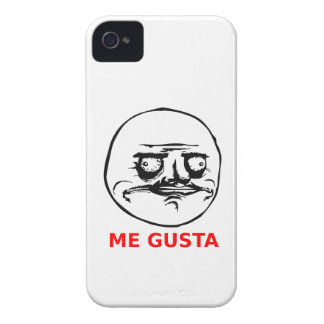 Me Gusta Face with Text Case-Mate iPhone 4 Cases