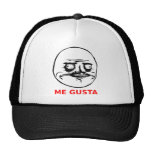 Me Gusta Face with Text Mesh Hat