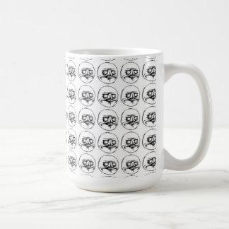 Me Gusta Pattern Basic White Mug