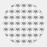 Me Gusta Pattern Round Sticker