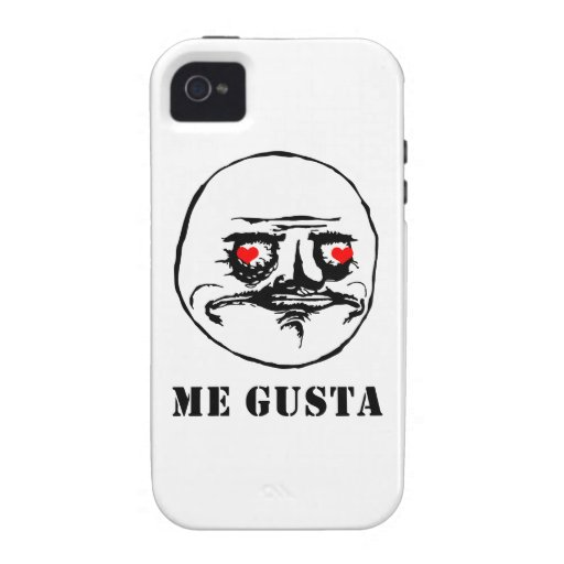 Me Gusta Valentine in Love - meme Case For The iPhone 4