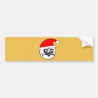 me gusta xmas meme bumper sticker