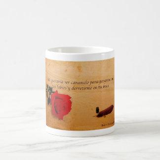 Me gustaría ser caramelo basic white mug
