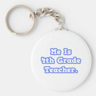 Me Is 4th Grade Teacher Key Chain