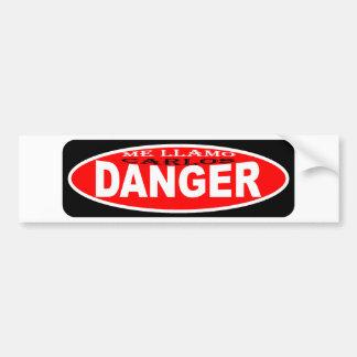 Me llamo Carlos Danger aka Anthony Weiner Bumper Stickers