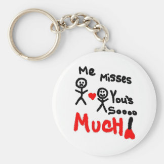Me Misses You's Stick People Basic Round Button Key Ring