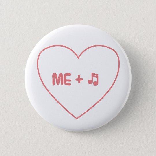 Me + music 6 cm round badge