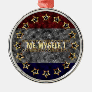 Me, Myself, I Stars and Stripes Silver-Colored Round Decoration