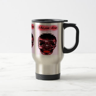 me on fire stainless steel travel mug