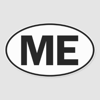 ME Oval Identity Sign Oval Sticker