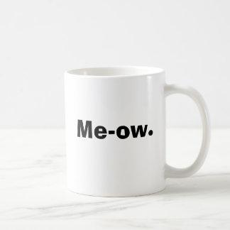 Me-ow. Basic White Mug
