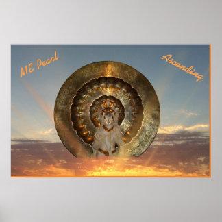 'ME Pearl, Sacred Squirrel, Ascending' Poster