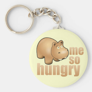 me so hungry funny hippo keychain