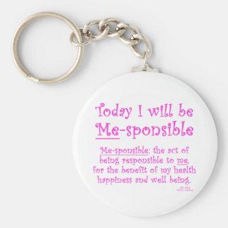 Me-Sponsible Basic Round Button Key Ring