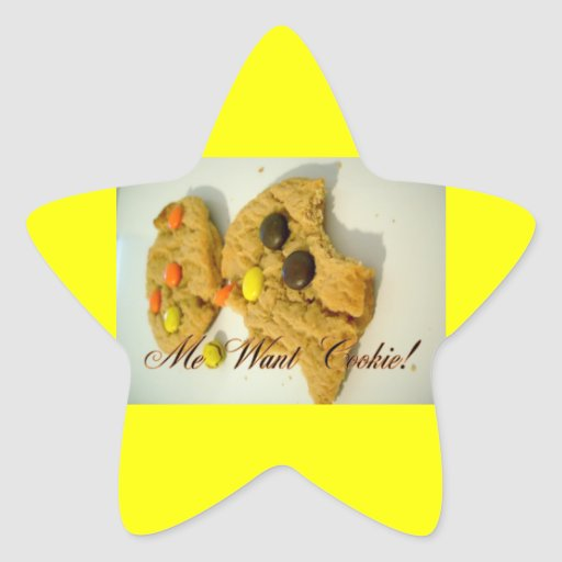 me want cookie star stickers