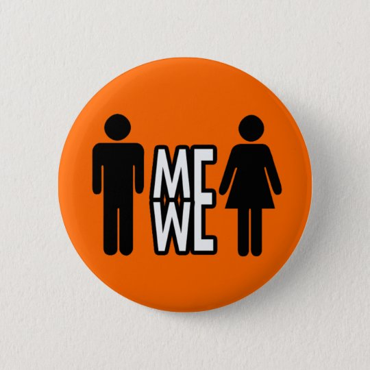 Me & We 6 Cm Round Badge