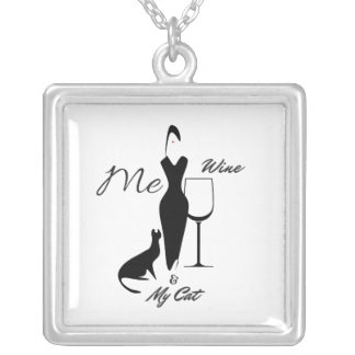 Me-Wine & My Cat-Cat Lovers Necklace