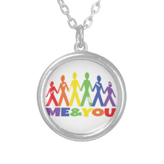me&you round pendant necklace