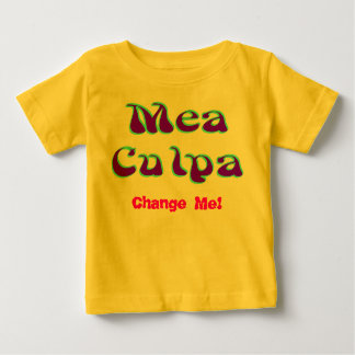 Mea culpa Psychedelic Graffiti Graphic Baby T-Shirt