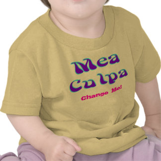 Mea culpa Psychedelic Graffiti Graphic Tee Shirt