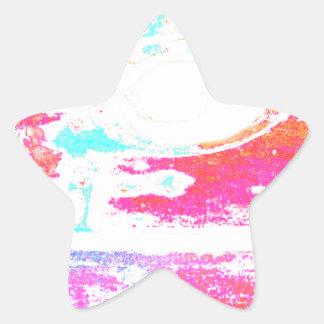 Meachanical Sunset Star Sticker