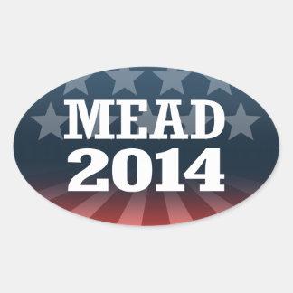 MEAD 2014 OVAL STICKER