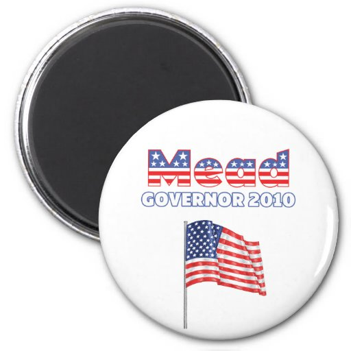 Mead Patriotic American Flag 2010 Elections Refrigerator Magnets