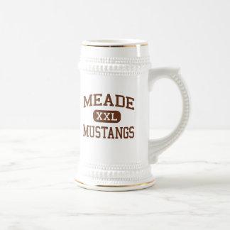Meade - Mustangs - High - Fort Meade Maryland Beer Stein