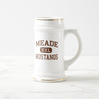 Meade - Mustangs - High - Fort Meade Maryland Beer Steins