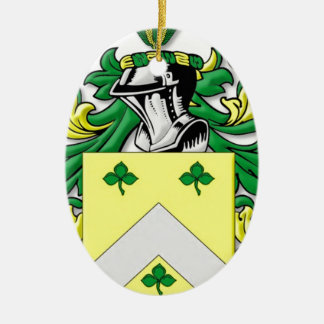 Meadors Coat of Arms Ceramic Oval Decoration