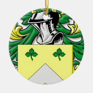 Meadors Coat of Arms Round Ceramic Decoration