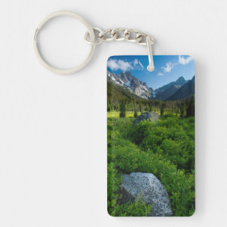 Meadow and Mt. Stuart Double-Sided Rectangular Acrylic Key Ring