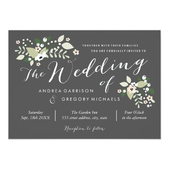 Meadow Blooms Wedding Invitation